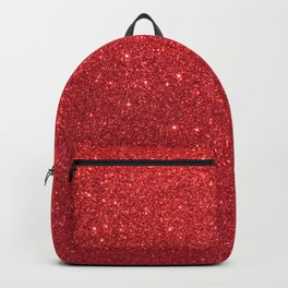 Shiny Sparkly Christmas Cherry Red Glitter Backpack