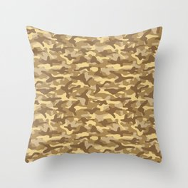 Sand Camouflage Throw Pillow