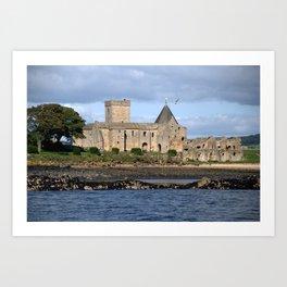 Inchcolm Abbey on Inchcolm Island - Fife, Scotland Art Print