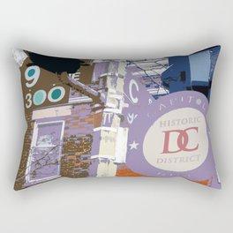 Capitol Hill - Washington, DC -  historic sign street art - DC photography Rectangular Pillow