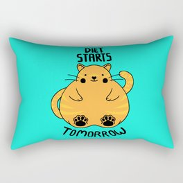 Diet Starts Tomorrow! Rectangular Pillow
