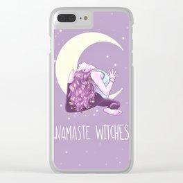 Namaste Witches, Mermaid Yogini, Yoga, Weronika Salach Clear iPhone Case