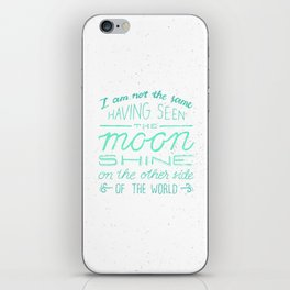 moon quote iPhone Skin