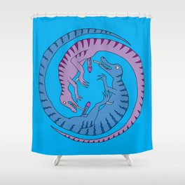 Before Time Began II (blue) Shower Curtain