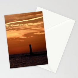 Sunset in Michigan Stationery Cards