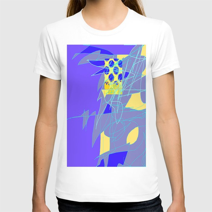 Yellow Square Hatchling  Blue-purple  Abstract T-shirt