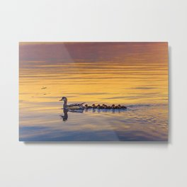 Adorable family Metal Print