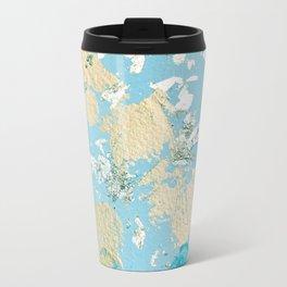 Gold Abstract Modern Painting Travel Mug
