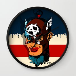 Captain Anarchy Wall Clock