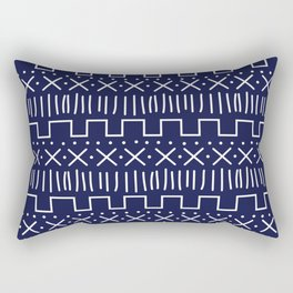 Navy Mud Cloth Rectangular Pillow