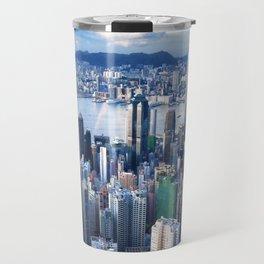 Hong Kong-Buildings Travel Mug