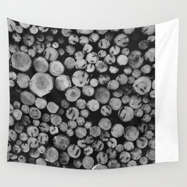 Pile of wood Wall Tapestry