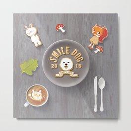 SmileDog Icing Cookies Metal Print
