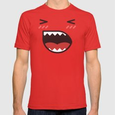 Angry Mens Fitted Tee MEDIUM Red
