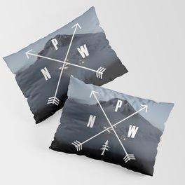 PNW Pacific Northwest Compass - Mt Hood Adventure Pillow Sham