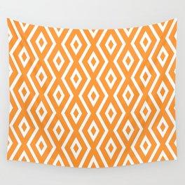 Orange Diamond Pattern Wall Tapestry