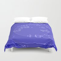 agate Duvet Covers featuring Agate by Audrey Erickson