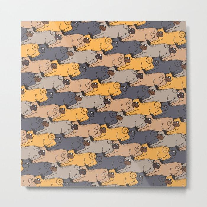 Pugs Tessellations Metal Print