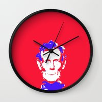 lincoln Wall Clocks featuring Lincoln by Mylittleradical