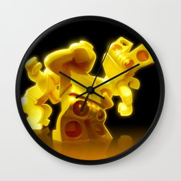 Yellow Butts Wall Clock