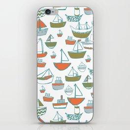 Hey Little Boat iPhone Skin