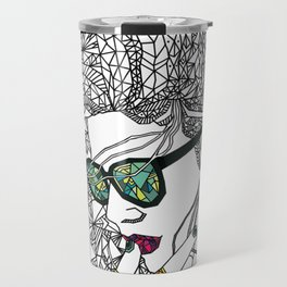 Geometry and colours Travel Mug