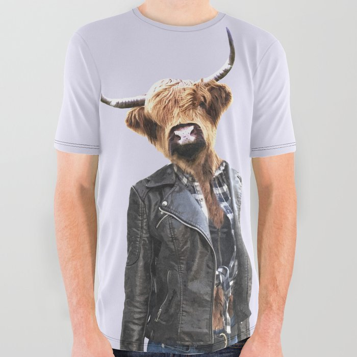 Cow Girl All Over Graphic Tee