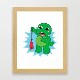 Little Dinosaur, Big Feelings (Pop) Framed Art Print