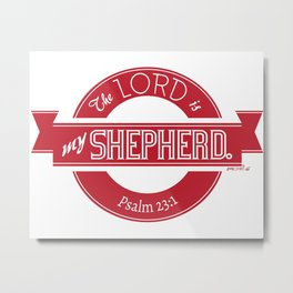 Psalm 23:1 (Retro) Metal Print