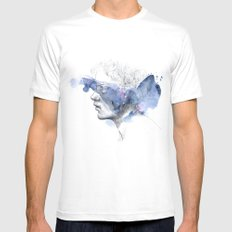 water show II White Mens Fitted Tee MEDIUM