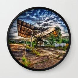 Abandoned Garage Wall Clock