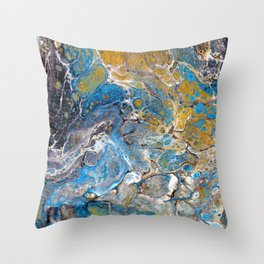 Mineralogy - Abstract Flow Acrylic Throw Pillow