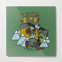 Tasting Bird Metal Print