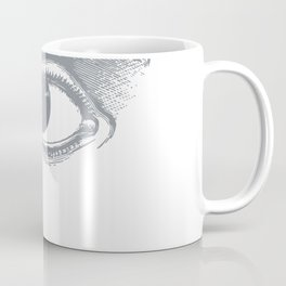 I see you. Gray on White Coffee Mug