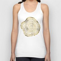 welcome Tank Tops featuring Gold Tree Rings by Cat Coquillette