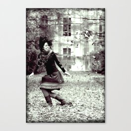dancing autamn Canvas Print