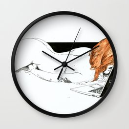 NUDEGRAFIA - 32 Don't Panic Wall Clock
