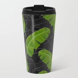 Banana Leaves_Bg Black Travel Mug