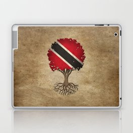 Vintage Tree of Life with Flag of Trinidad and Tobago Laptop & iPad Skin