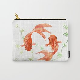 Koi Fish, Feng Shui, Goldfish art, Two fish, Carry-All Pouch