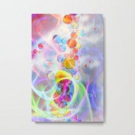 Unicorn Fantasy Rainbow Neon Bubbles VIII Metal Print