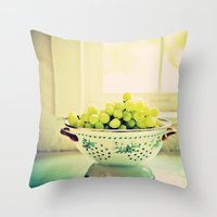 fruit Throw Pillows featuring Fruit  by Jo Bekah Photography