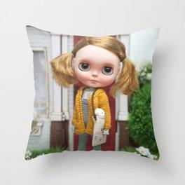 ERREGIRO BLYTHE DOLL OLI CARDIGAN Throw Pillow
