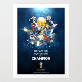 2018 World Cup Heroes Art Print