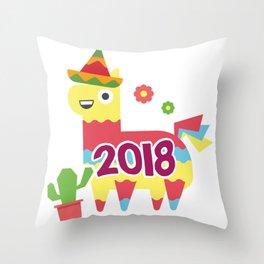 Cinco De Mayo 2018 Pinata Throw Pillow