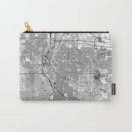 Denver White Map Carry-All Pouch