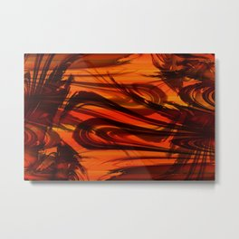 Vegetation orange Metal Print
