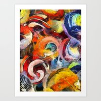Gone Marbles Art Print