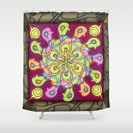 Heel-Toe Express Shower Curtain