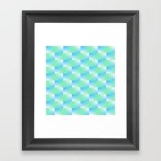 Blue and Blue Green Pattern Framed Art Print